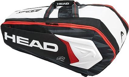 Head Tennis Bag >> Amazon Com Head Novak Djokovic 9 Racquet Supercombi Tennis Bag
