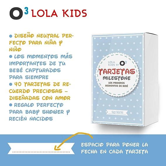 O³ Milestone Baby Cards Lola Kids – 40 Cartas En Español Para Primer Año De Bebé Con Caja De Regalo - Diseño Único | Tarjetas De Recuerdo - ...