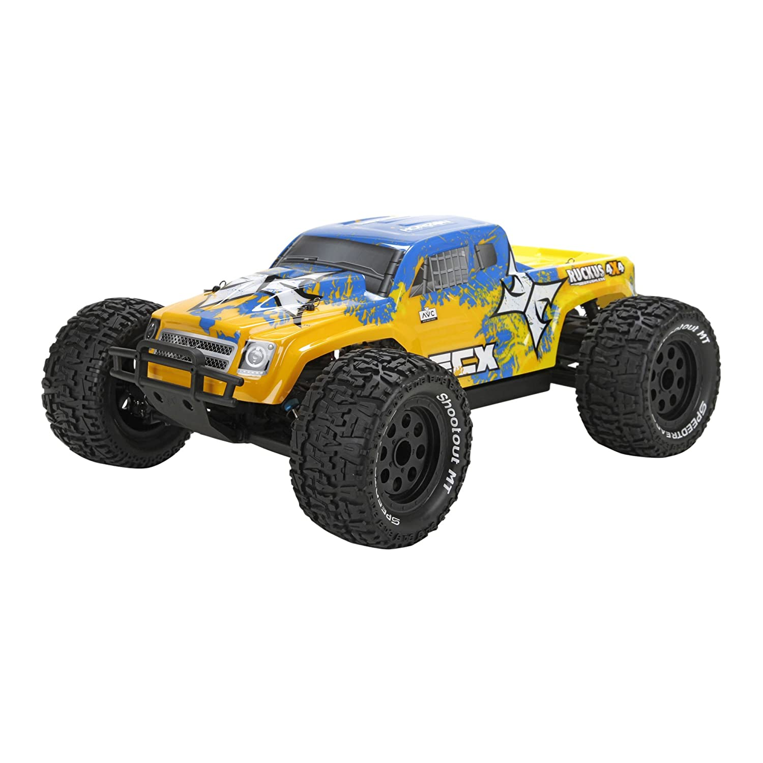 Amazon com 1 10 ruckus 4wd rtr monster truck with active vehicle control technology toys games