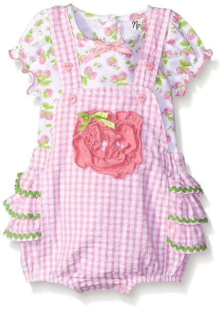 Amazon.com: Nannette Baby Girls 2 piezas juego de Pelele ...