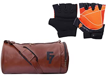 c5ec0eebc4 Image Unavailable. Image not available for. Colour  Fashion7 Duffle Leather  Gym Bag ...