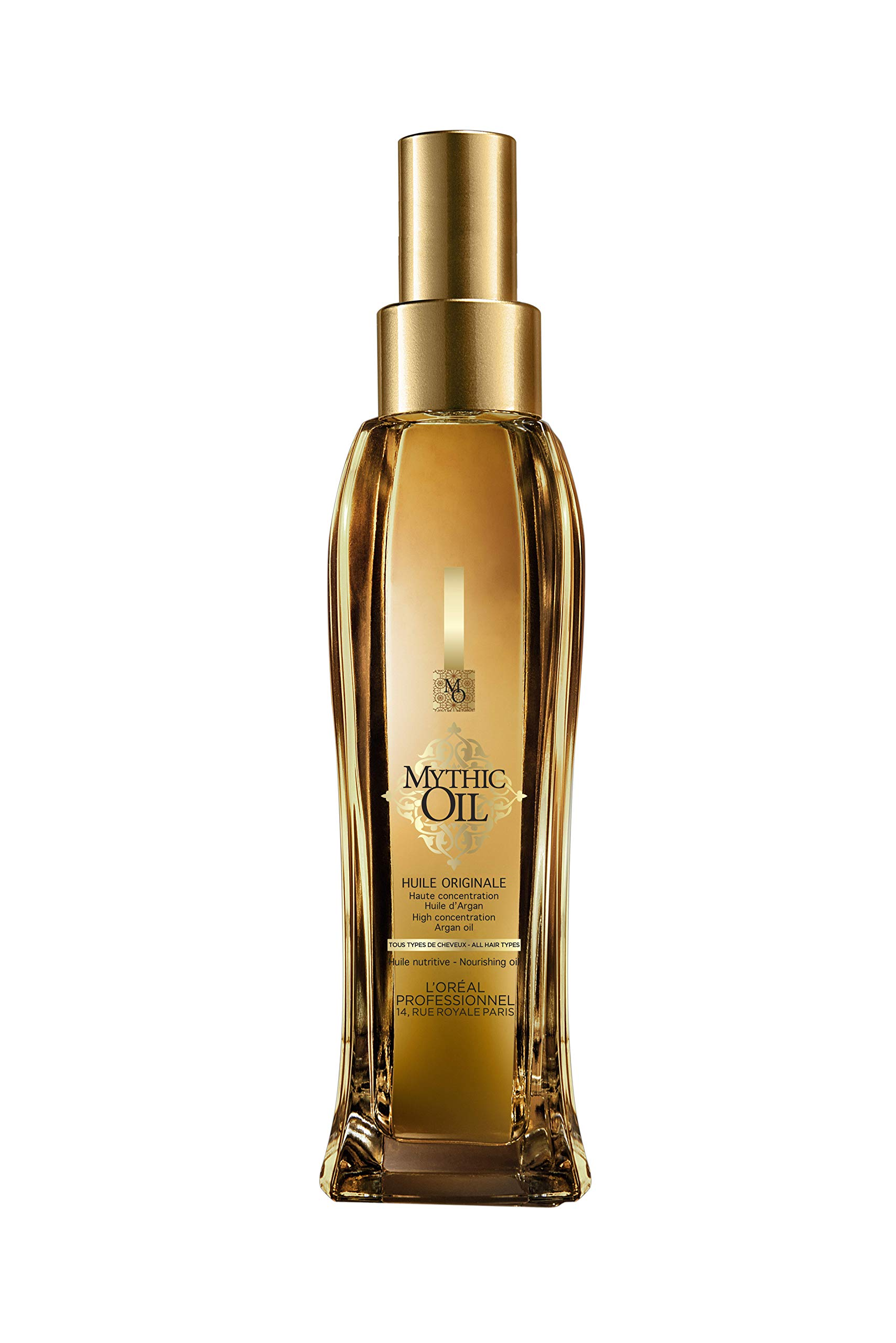 L'Oreal Paris, Professionnel Mythic Oil Nourishing Oil with Argan Oil All Hair Types 100mloz, 3.4 Fl Oz