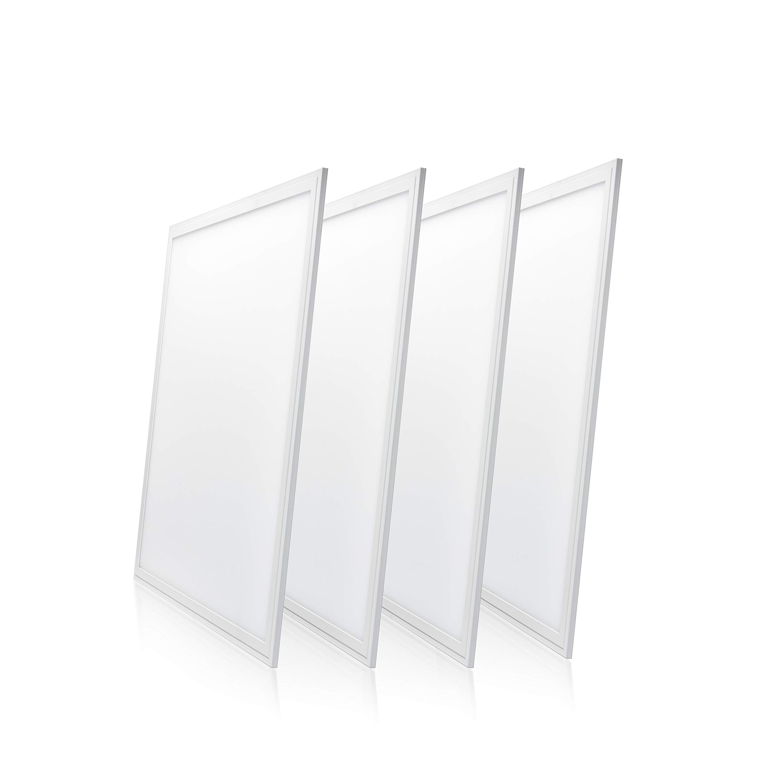 Parmida (4-Pack) LED Panel Light, 2x2, 40W (80W Replacement), 4400lm, 4000K (Cool White), Dimmable, Ultra Thin Edge-lit Flat Panel, UL & DLC Certified
