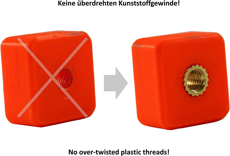 por calor o ultrasonido en piezas de impresora 3D Tuerca a presi/ón para piezas de pl/ástico | RX-M8x12,7 Casquillos roscados de lat/ón ruthex/® inserto roscado M8 20 piezas