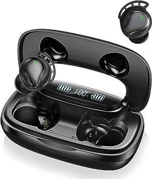 Écouteurs Bluetooth sans Fil Sport IPX7 Étanche, Casque Bluetooth i FI Son Stéréo, avec 3000mAh Étui de Chargement, Réduction du Bruit CVC 8.0, Temps