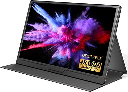 UPERFECT True 4K Portable Monitor, 15.6'' UHD IPS 3840x2160 USB C Monitor Unique Arch Metal Frame,100% sRGB 400 Nits Brightness, HDR FreeSync Speaker HDMI Type-C OTG VESA Computer Monitor w/Smart Case
