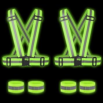 Bekleidung Sichere Weste High Reflektierender Körpergurt Laufen Reflektor Spazieren Sport
