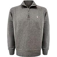 POLO RALPH LAUREN Double-Knit Half-Zip Mock Cotton Blend Pullover