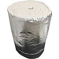 Aislante de fibra cerámica eco + aluminio, rollo