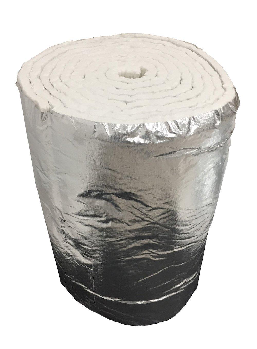 Fibre C/éramique + Aluminium Densit/é 64 kg//m3 Fibre C/éramique Tapis 7,30 mt x 61 cm /épaisseur 25 mm