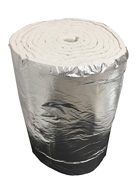 Aislante de fibra cerámica eco + aluminio, rollo de 7,30