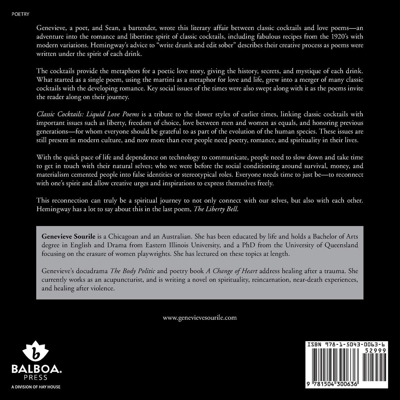 Classic Cocktails Liquid Love Poems Amazones Genevieve