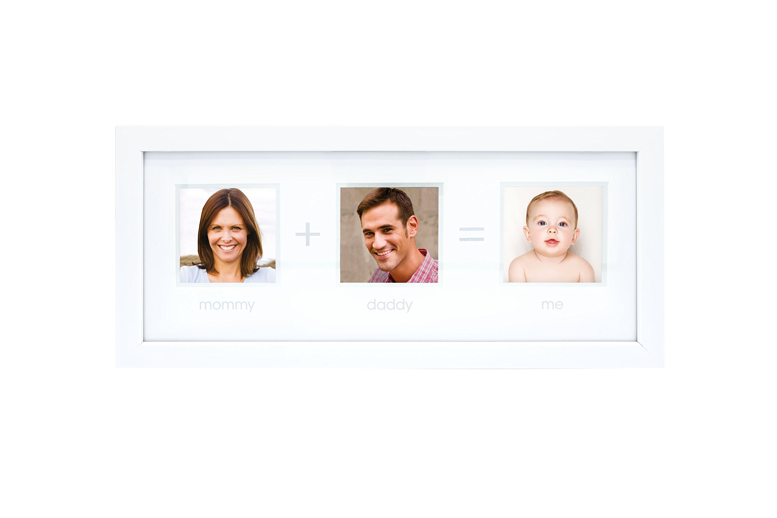 Tiny Ideas Mommy + Daddy = Me Picture Frame, Holds Three 3'' x 3'' Photos