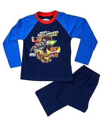 af6c0f66c NEW KIDS BOYS OFFICIAL SKYLANDERS SWAP FORCE PJYAMAS LONG SLEEVE LONG PANTS PJS  PYJAMA SET CHILDRENS BLUE SIZE UK 7-8 YEARS  Amazon.co.uk  Clothing