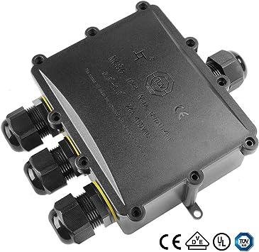 2x Outdoor Waterproof IP68 Cable Wire Connector Junction Box 4 Way Enclosure