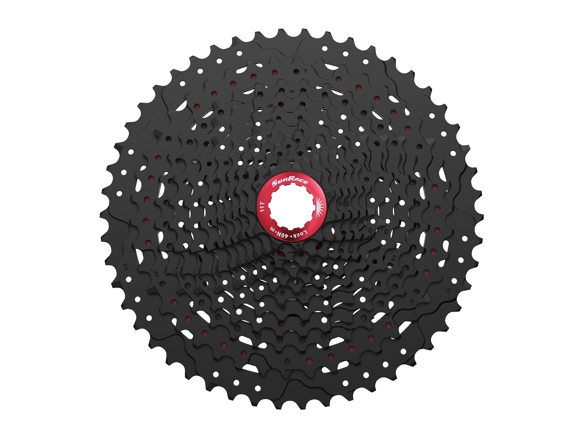 Sunrace 12-speed 11-50T cassette freewheel CSMZ90 WA5 wide ratio MTB in Black with RD extender