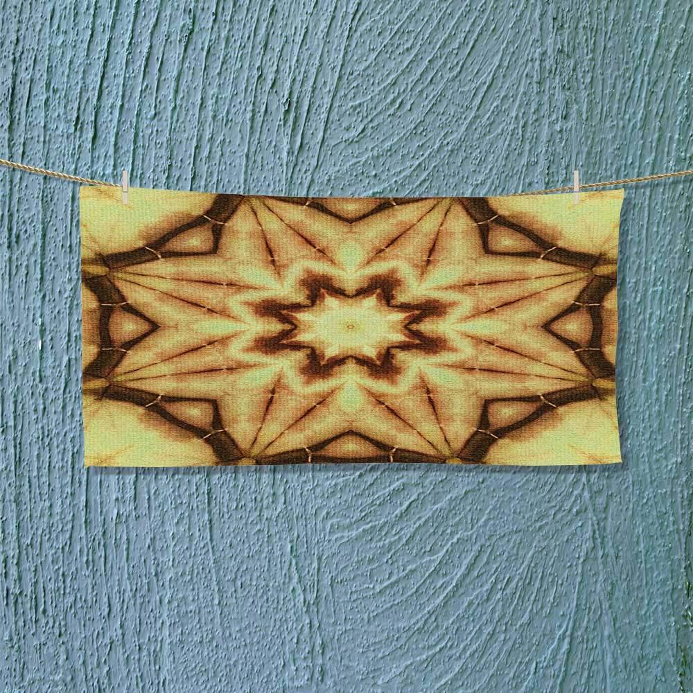 Swim Towel Decor Trippy Ethnic Thai Mandala Motif with Dirty Grunge Smear and Rough Stains Super Soft L39.4 x W9.8 inch