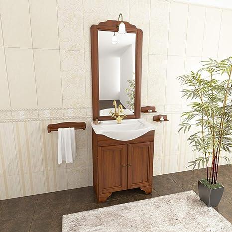 MarinelliGroup Mobile Bagno Classico 55 cm in Arte povera ...