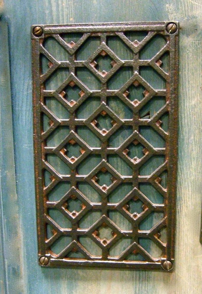 Antikas Grille de ventilation en fer pour chemin/ée Taille S