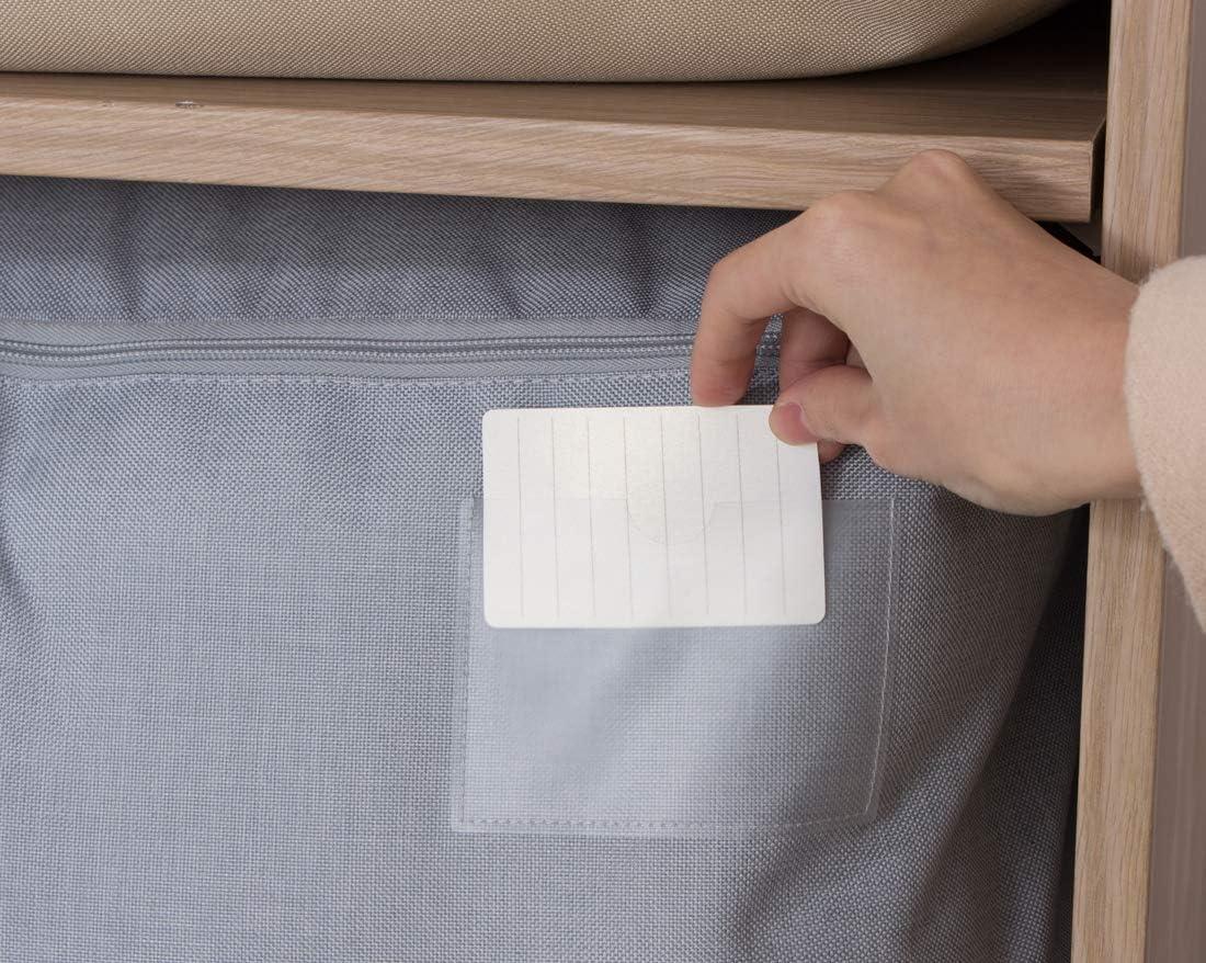 cerniere superiori su tre lati 105L Contenitori per organizer sotto il letto per coperte king size beige cuscini
