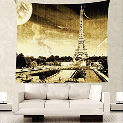 Amazon.com: oFloral Paris Eiffel Tower Tapestry Wall Decor By ...