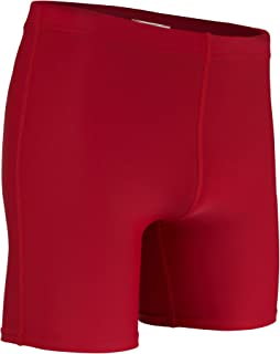 product image for HT-111Y Boys and Girl's Mid-Weight Compression Short-Stay Comfortable, Cool, and Dry During Football, Lacrosse, or Gym Work Outs (Youth Large, Red)