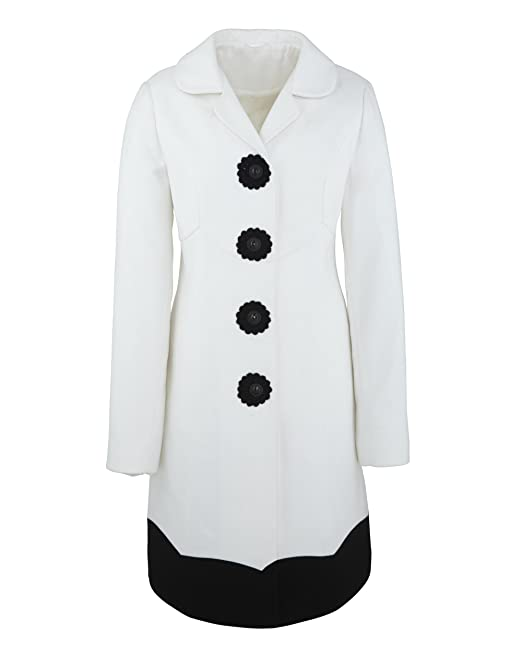 JD Williams - Abrigo - para mujer blanco Winter White 40