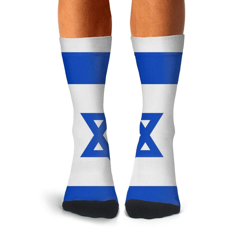 KCOSSH Israel flag Novelty Crew Socks Athletic Calf Sock for Mens