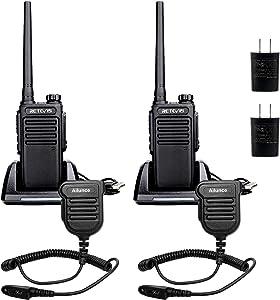 Retevis RT47V MURS Radio Handheld,Rechargeable Walkie Talkies Long Range,Waterproof 2 Way Radio with Speaker Mic,for Commercial Warehouse (2 Pack)