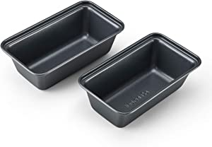 Instant Pot 5252185 Official Mini Loaf Pans, Set of 2, Compatible with 6-quart and 8-quart cookers, Gray