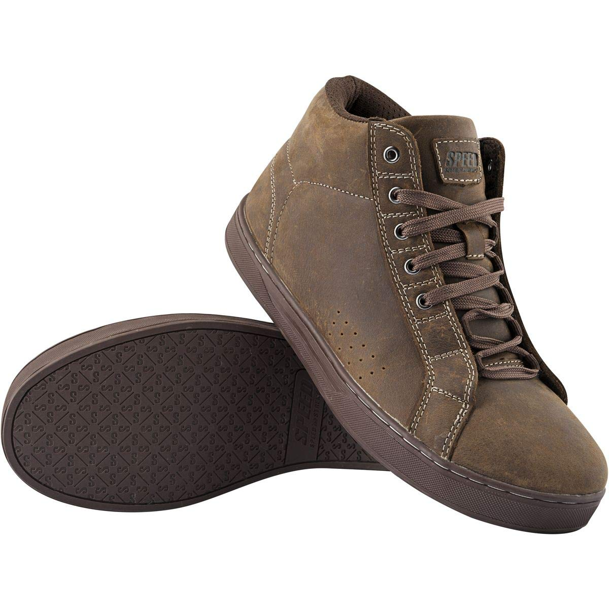 Speed and Strength Men's Soul Shaker Brown Moto Shoes, 10