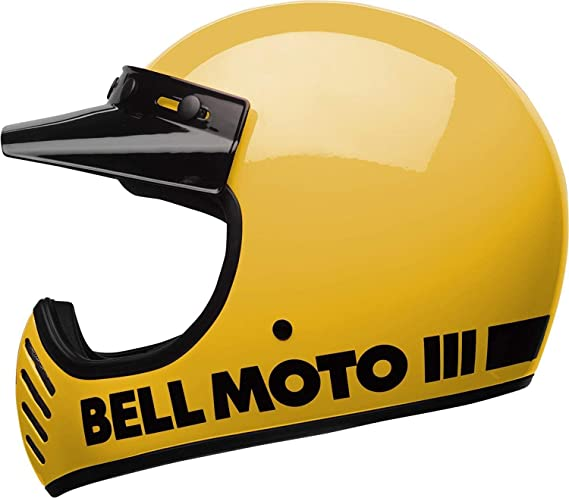 Amazon.com: Bell Moto-3 Off-Road Motorcycle Helmet (Classic Gloss Yellow, X-Large): Automotive