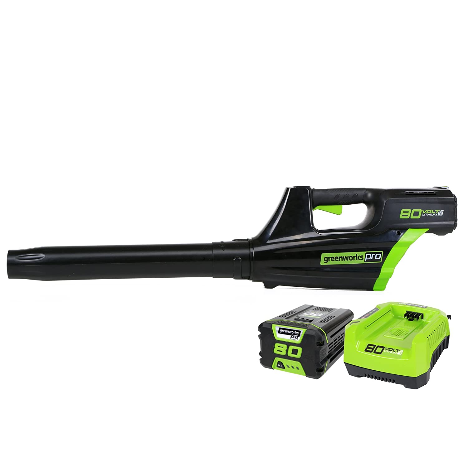 Greenworks Pro 80V Cordless Brushless Axial Blower, Battery and Rapid Charger Included