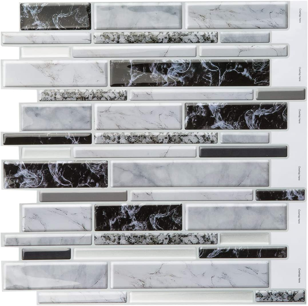 - Amazon.com: Decopus 3D Gel Tile Peel And Stick Backsplash (Carrara