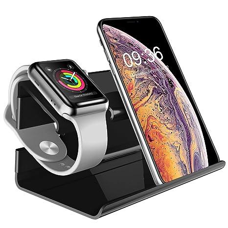 BENTOBEN iPhone Cargador Dock, PC Apple Watch Soporte Docking Station Holder Display Cradle para iPhone 7/7 Plus / 6S / 6S Plus/6/6Plus/5S/5/SE iWatch ...