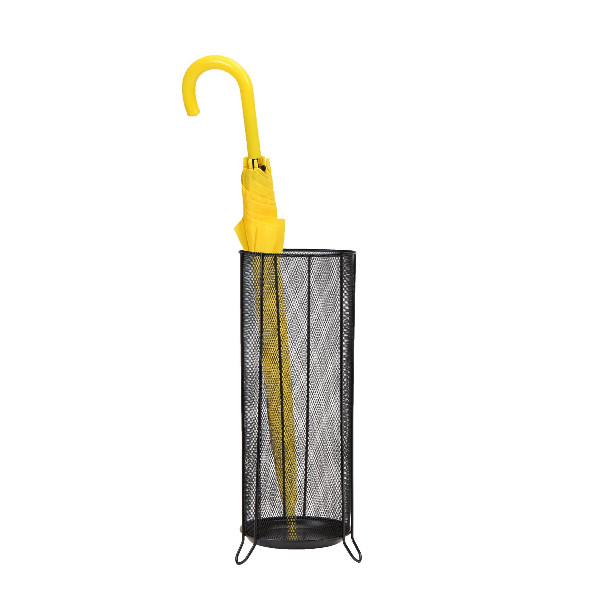 Mind Reader BRELLSTA-BLK Umbrella Stand Rack Holder for Canes, Walking Sticks, Home and Office, Black by Mind Reader