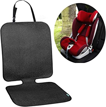 Universal Size Thick Material Anti-Slip COOLBEBE Car Seat Protector Dirt and Stains Dog Mat Baby Seat Protector ISOFIX Compatible Protects Car Upholstery from Child Seats