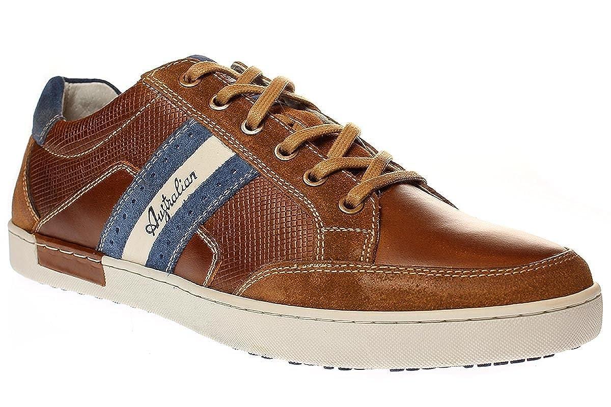 Australian Footwear Lombardo Leather - Herren Schuhe 15124301 15124301 15124301 t07-tan-Blau aa0ce0