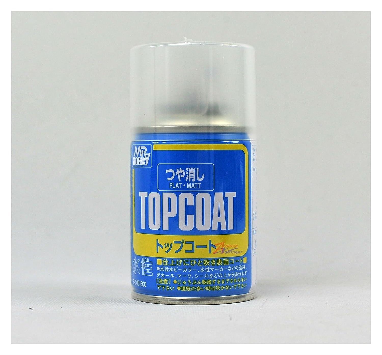 MR HOBBY TOP COAT SPRAY 86ml FLAT MATT CLEAR B503