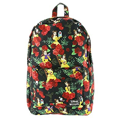 fa5589e4483 Loungefly x Disney Beauty and the Beast Belle Floral All Over Print Backpack   Amazon.co.uk  Clothing