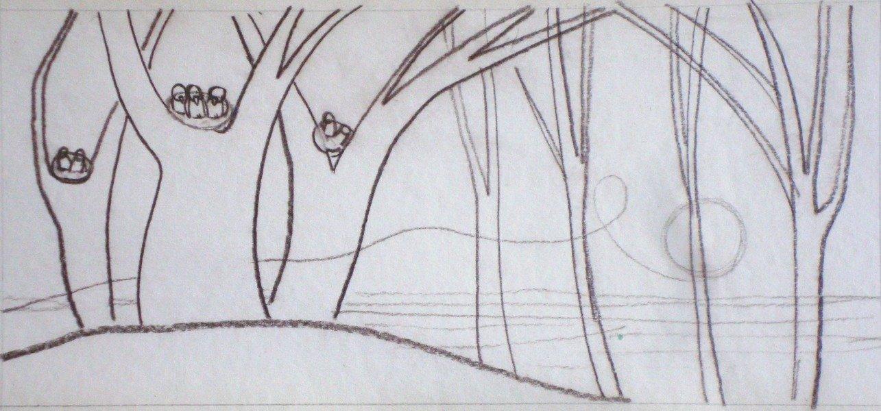 "Illustration J. Rainis book ""The riddle"""