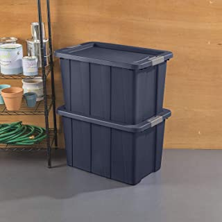 product image for Sterilite 15278N04 Latching Tote, 30 Gallon, Dark Indigo Lid and Base with Titanium