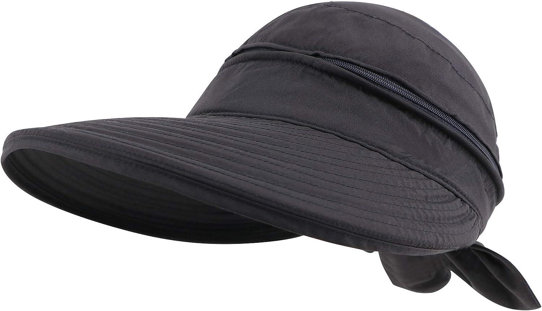 Simplicity Women's UPF 50+ UV Sun Protective Convertible Beach Visor Hat