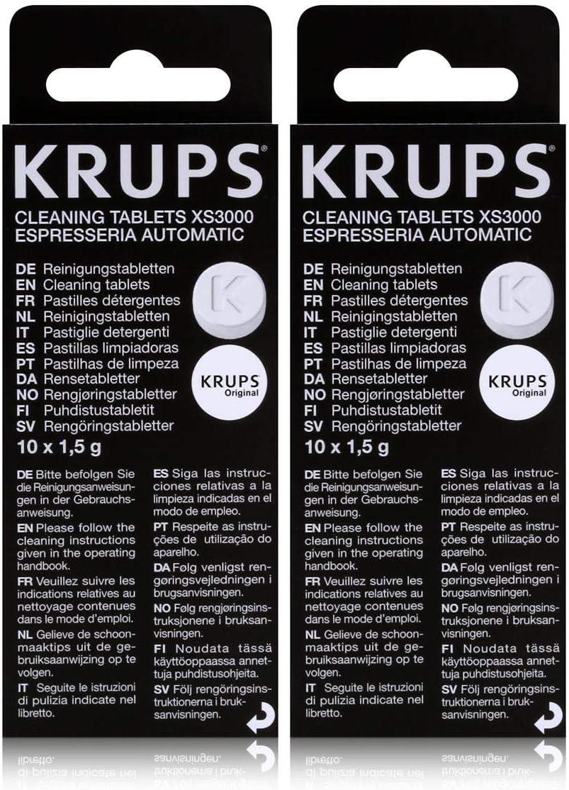 Krups XS 3000 pastillas de limpieza para Espresseria Automatic, 2 ...