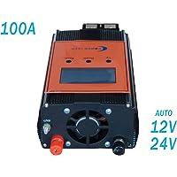 wccsolar.es Regulador de Carga PWM Charge Controller 100A 12V 24V LCD