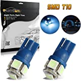 Partsam 2pcs Ice Blue T10 194 168 Wedge 5-5050-SMD LED License Plate Light Lamp Bulb 12V