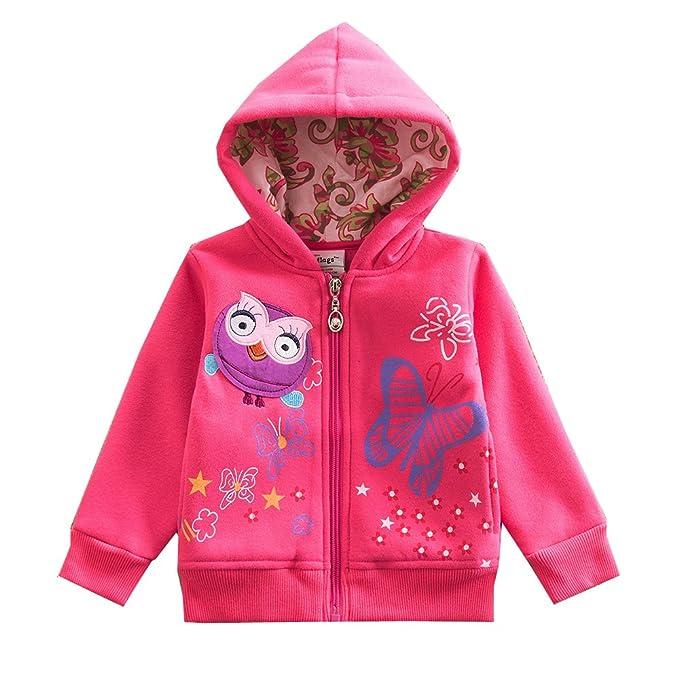 VIKITA - Sudadera con capucha - para niña Rose: Amazon.es: Ropa y accesorios