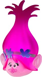 DreamWorks Trolls Poppy LED Night Light, Trolls World Tour, Plug-in, Dusk to Dawn, UL-Listed, Pink Glow, Ideal for Bedroom, Nursery, Bathroom, 43741