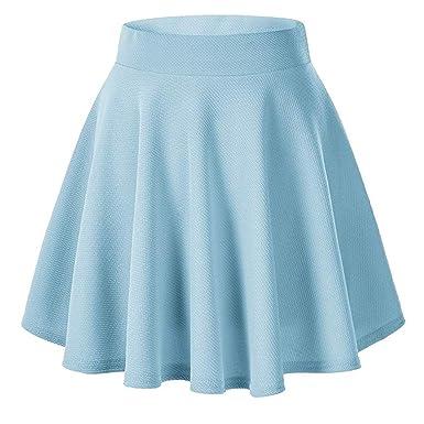 Riou - Falda Corta para Mujer, Minifalda elástica básica, Muy ...