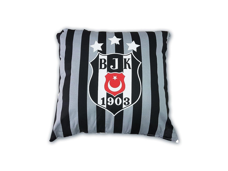 Zorluteks Kissen Besiktas Istanbul 40x40 cm Streifen Beşiktaş yastık kırlent Original Lizenzierte Ware Neu!